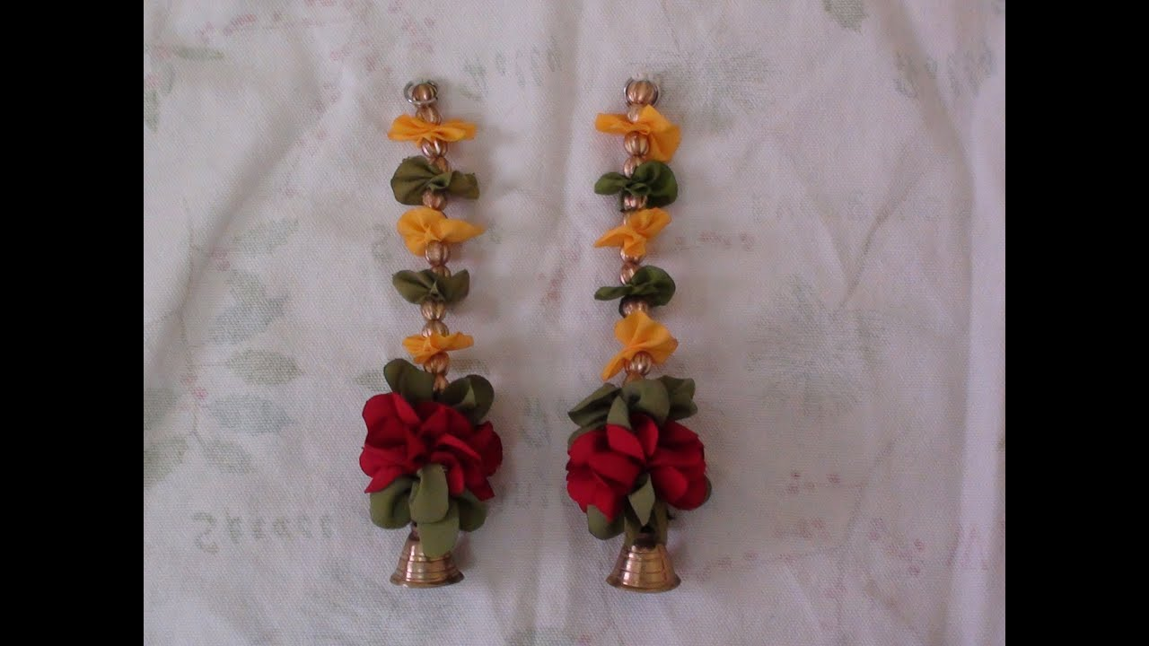 How to make puja room door hangings with polyester cloth