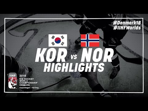 Game Highlights: Korea vs Norway May 14 2018   #IIHFWorlds 2018