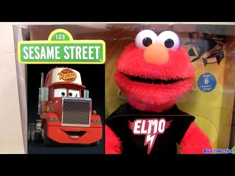 Lets Rock Elmo Singing to Mack and Lightning McQueen Disney Pixar Cars From Hasbro toys