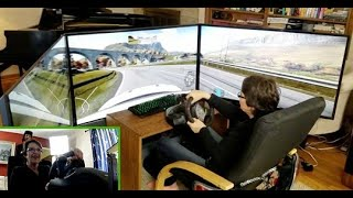 Mom test-drives ULTIMATE DIY racing simulator! (Project Cars 2)