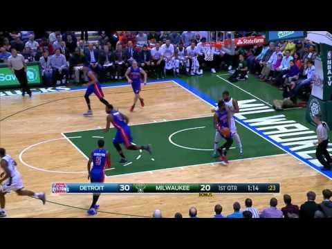 Greg Monroe Full Game Highlight VS Detroit Pistons (10Points,7Rebounds,3Assists)