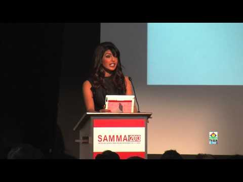 Priyanka Chopra Speech at SAMMA 2013