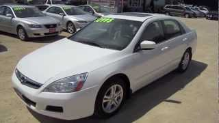 2007 HONDA ACCORD Start Up, Walk Around by Automotive Review