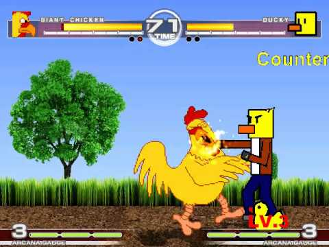 MUGEN : Fowl Play Giant Chicken vs Ducky