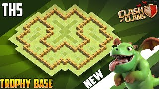 NEW Town Hall 5 (TH5) TROPHY/WAR Base Design 2018!! COC Best Th5 Trophy Base Layout - Clash of Clans