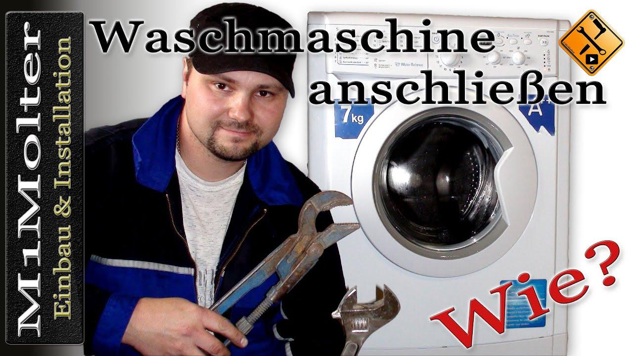 waschmaschine aufstellen und anschlie en aber wie von m1molter youtube. Black Bedroom Furniture Sets. Home Design Ideas