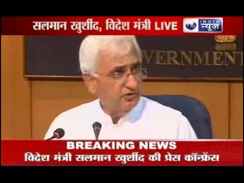 Salman Khurshid: India, China working on Border Cooperation