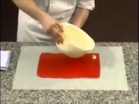 Çikolatayla Pasta Süsleme
