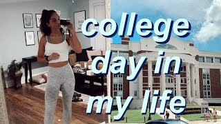 college day in my life: full day of classes + work!