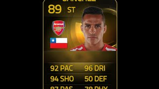 FIFA 15 TIF SANCHEZ 89 Player Review & In Game Stats Ultimate Team