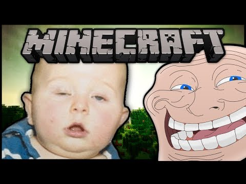 Minecraft: Trolling Little Kids #35 Drunk Baby