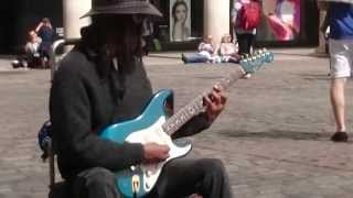 BB King tribute, by Richard Blues - Busking in the streets of London UK