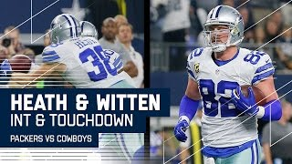 Rodgers INT Leads to Prescott Tossing TD to Witten   Packers vs. Cowboys   NFL Divisional Highlights