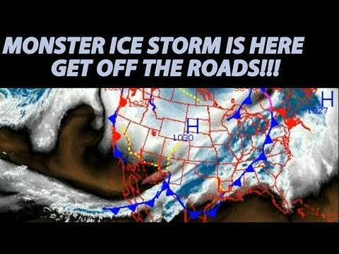 Monster ICE STORM CLEON is here! Get off the Road! Texas Oklahoma Arkansas Kentucky & Ohio