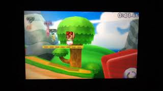 SSB 3DS - Bowser Jr. (me) and Mii Toadette (cpu) vs Duck Hunt (cpu) and Toon Link (cpu)