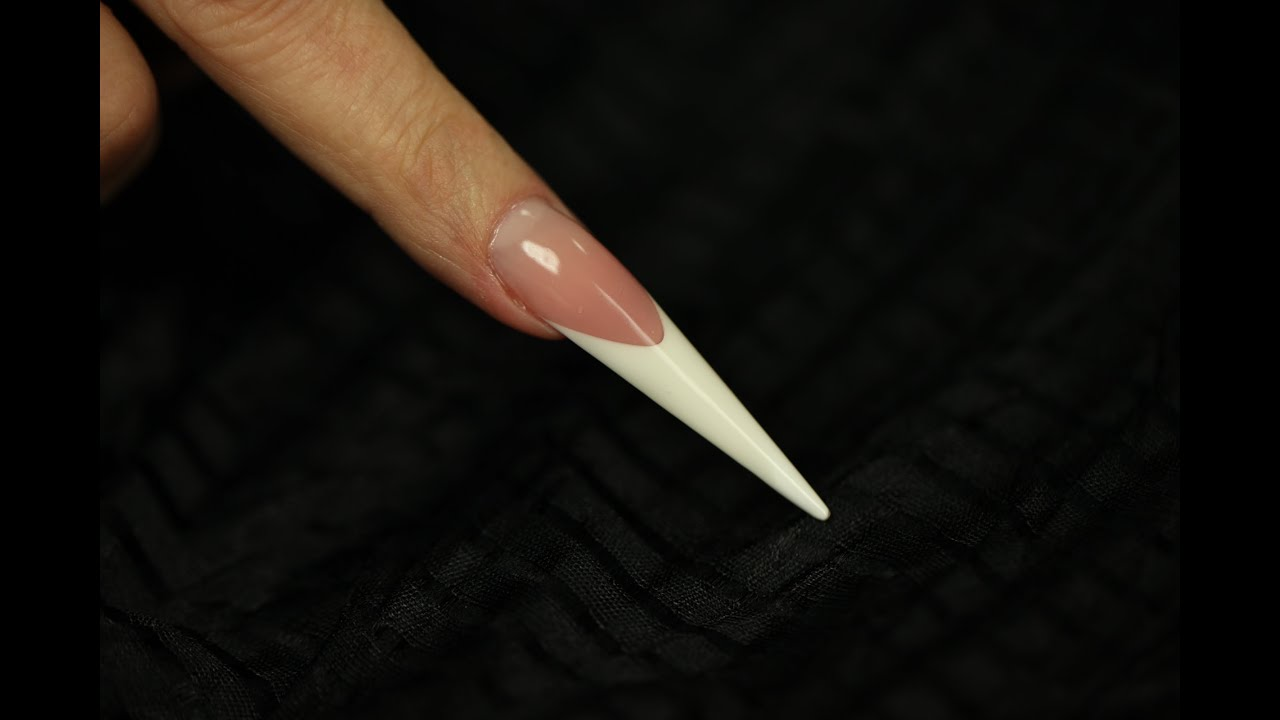 Gel Stiletto nail shape- Step by Step video - YouTube