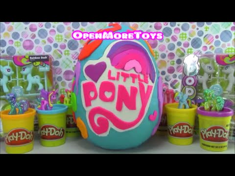 My Little Pony Giant Surprise Egg Play Doh Shopkins Unicorno Lps Disney video