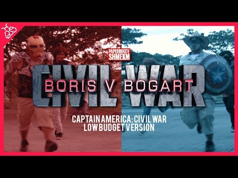BORIS V BOGART: CIVIL WAR - Captain America: Civil War Low Budget Parody