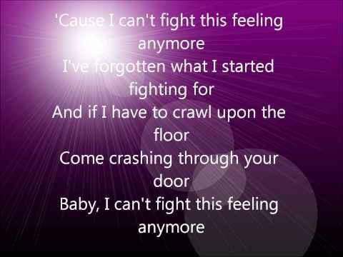 Can't Fight This Feeling Lyrics Video