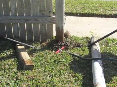 Diy Fence Repair With The Wood Post Puller Remove