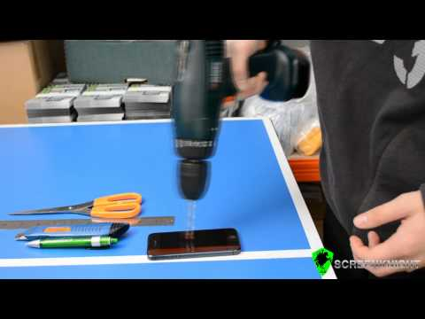 Unbreakable iPhone 5 / 5C / 5s ScreenKnight Tempered Glass Screen protector Durability Test