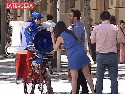CESO-MAN: el superhéroe de Molina que sorprende a los santiaguinos con su publicidad