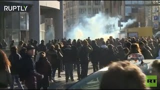 RAW: French students clash with police protesting against university reform