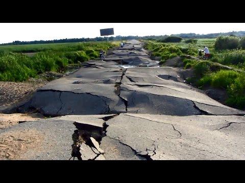 Самые плохие дороги в России. Где-то в Саратовской области