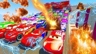 Disney Pixar Cars 3 Lightning McQueen Jackson Storm & Cruz Ramirez, Mack Truck Chick Hicks 86