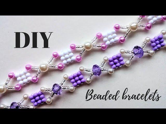 Beading Tutorial. DIY Bracelets. Easy beading pattern for beginners