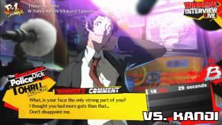 Persona 4 Arena Ultimax: Tohru Adachi Win Quotes