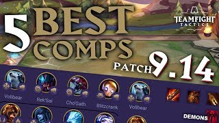Top 5 BEST Team Comps for RANKED in Teamfight Tactics Patch 9.14
