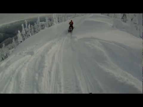 ZEAL ION video goggle test, Glacier House Resort, Revelstoke BC. Snowmobiling January 13,2013