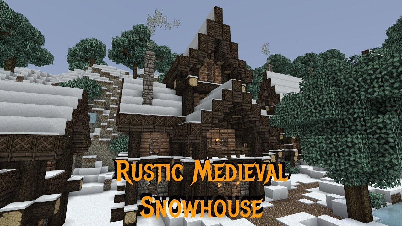 Minecraft Gundahar Tutorials Rustic Medieval Snowy