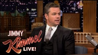 Matt Damon Insults Jimmy Kimmel on The Tonight Show
