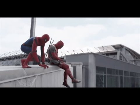 Deadpool e Spider-man in Captain America: Civil War   Parodia