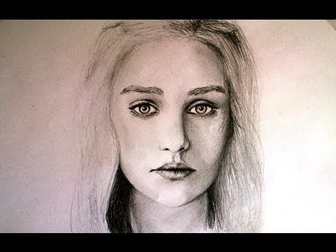 Pencil Portrait Drawing of Game of Thrones - Daenerys Targaryen - Pencil Art Speed Drawing