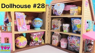 Blind Bag Dollhouse #28 LOL Dolls Pets Disney Coco Tsum Tsum Toy Review | PSToyReviews