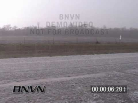 4/5/2005 Eureka Kansas Hail Storm Stock Video