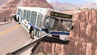 Collapsing Bridge Pileup Car Crashes #1 - BeamNG DRIVE   SmashChan