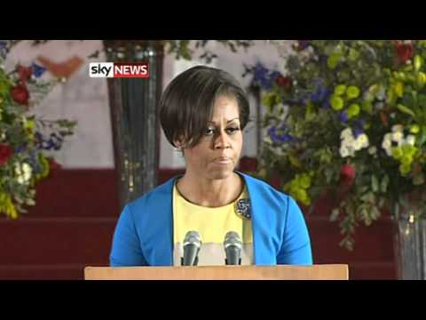 Michelle Obama Inspires Young Women In Soweto, South Africa