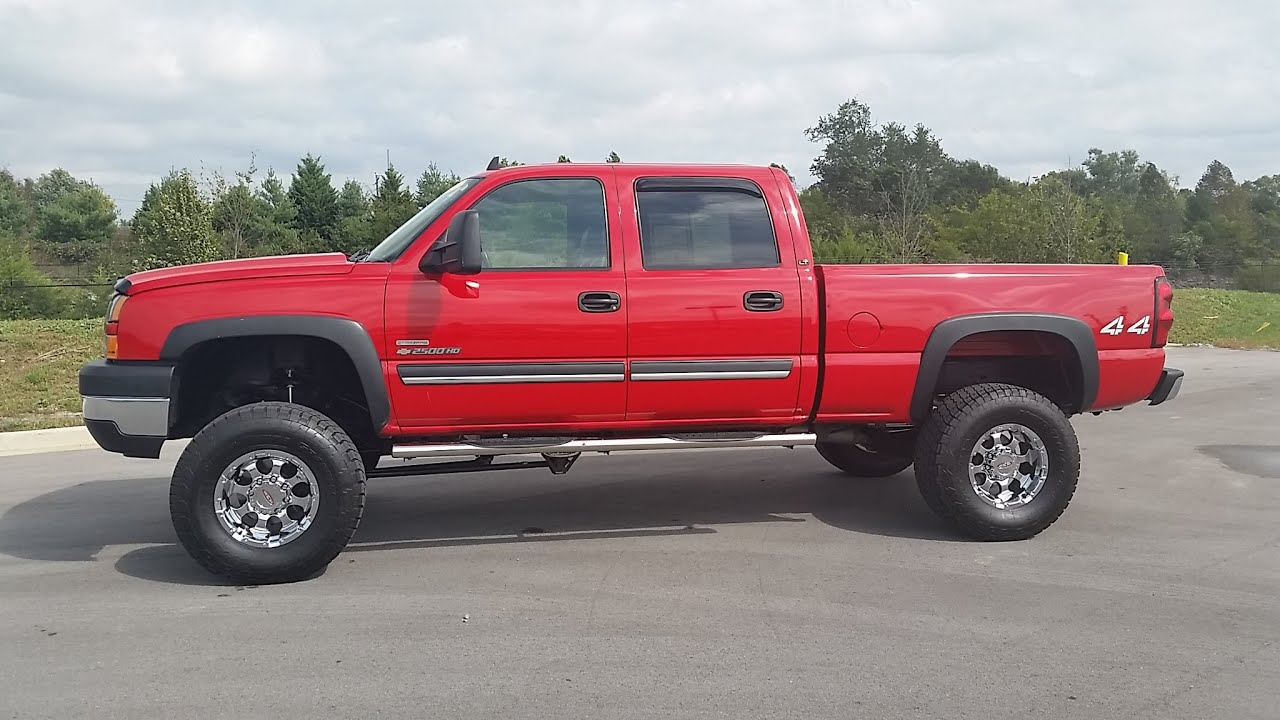 silverado 2006 2500hd chevrolet 2500 duramax 4x4 hd lift comp pro crewcab