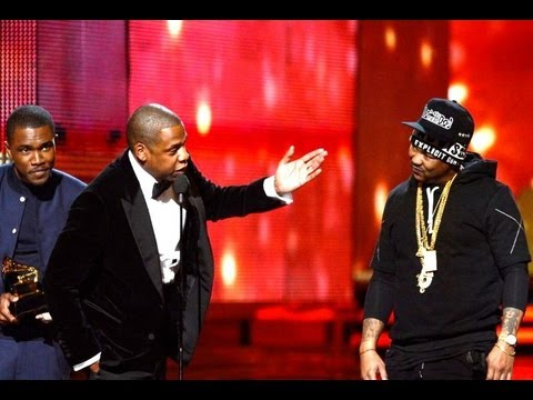 "Beyoncé Behind Jay-Z ""Swap Meet"" Joke Grammy Acceptance Speech 2013"
