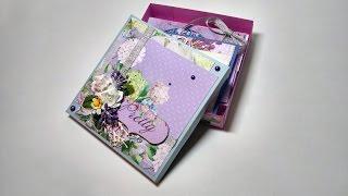 Gift packaging box - Scrapbooking master class