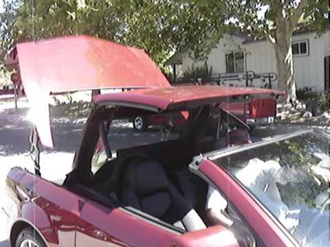 $107000 Top-Drop - Cadillac XLR-V Going Topless Video