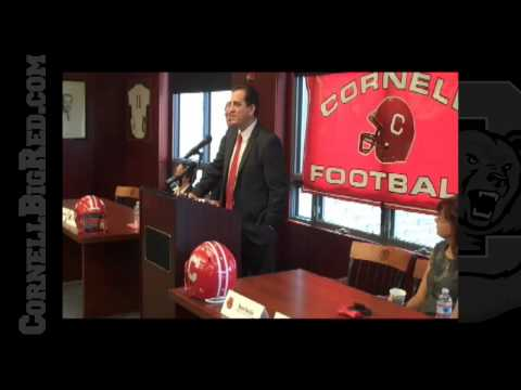 The Cornell press conference announcing the hiring of Kent Austin as the 26th head football coach in Cornell history on Jan. 27, 2010 in the Hall of Fame Roo...