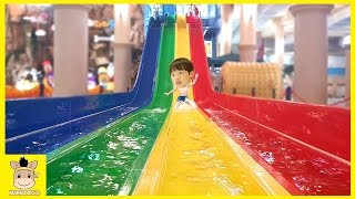 Indoor Playground Fun for Kids and Family Play Slide Rainbow Colors Balls Pool   MariAndKids Toys