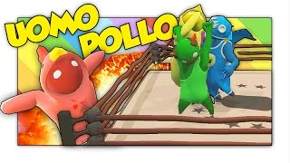 LA VENDETTA DELL'UOMO POLLO! NUOVE MAPPE! - Gang Beasts ITA Funny Moments w/ Lucazz AnItalianNoob