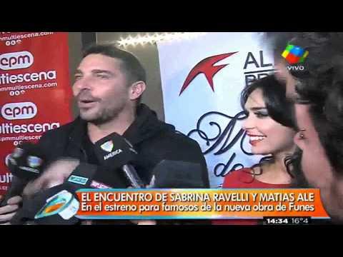 Matías Alé y Sabrina Ravelli: Un encuentro lleno de chicanas