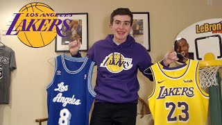 MY LAKERS APPAREL COLLECTION!! JERSEYS+SHORTS+MORE